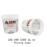 16oz / 473mL Paint Mixing Cup with Calibrated Mixing Ratios 100-Pack