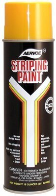720 Yellow Line Striper Spray Paint - Lot of 12