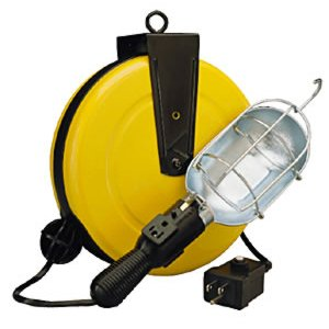 5000-50G-CB Incandescent Metal Retractable Cord Reel Work Light