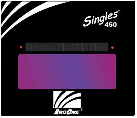 "S450-10 Horizontal Single Auto-Darkening Filter for Welding, 4 x 5"", Shade 10"