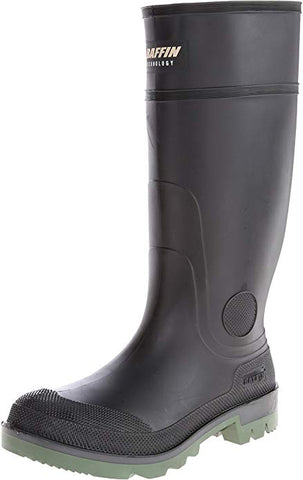 Men's Enduro PT Rain Boot,Black/Clear/Green,11 M US
