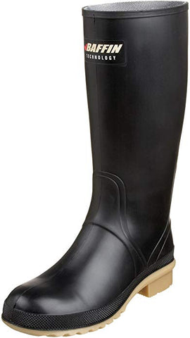 Women's Processor Canadian Made Industrial Rubber Boot,Black/Amber,6 M