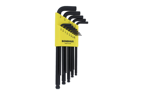 Balldriver L Wrenches Set Sizes .050-3/8 Inch
