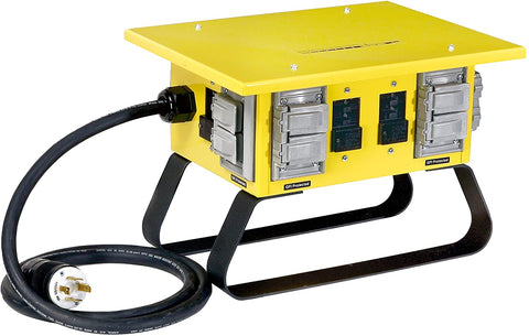 CEP Construction Electrical Products 6507GU 30-Amp Single Phase Power Box-Yellow