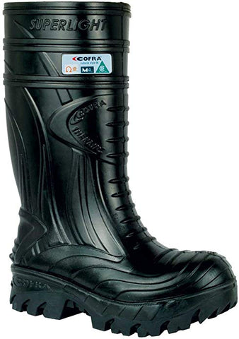 Waterproof Work Boots - THERMIC Cold Weather Rain Boot - Size 9,Black