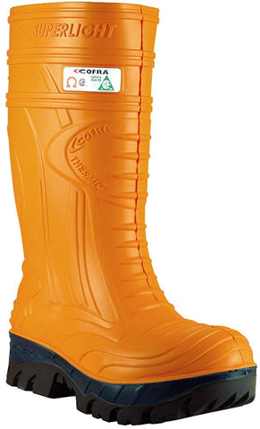 Waterproof Work Boots - THERMIC Cold Weather Rain Boot - Size 9,Orange