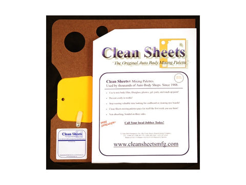Auto Body, Mixing Board Tear-Off Quick-Mixing Sheets