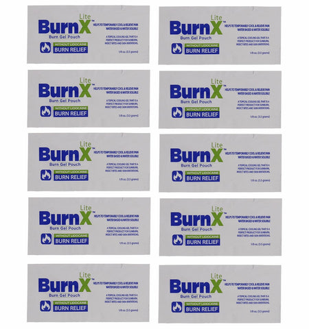 Burn X Cooling Gel Pouch, 10-Pack