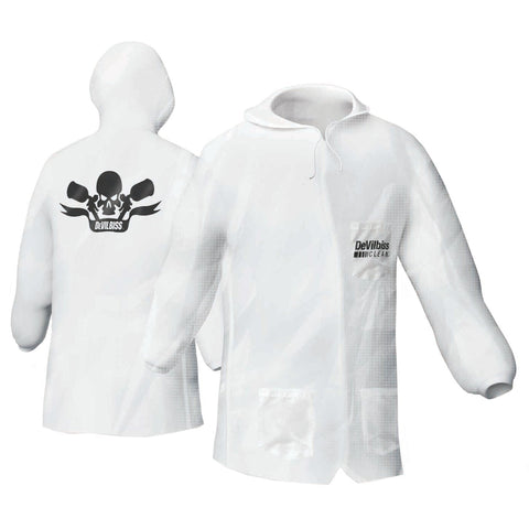 Clean Reusable Hooded Lab Coat