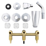 Tub Spout - 3 Handle Bathtub Faucet with Shower Diverter
