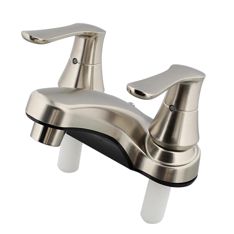 Lavatory Faucet - 4IN Nickel Bathroom Faucet with Dual Handles