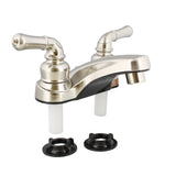 RV Lavatory Faucet – 4 IN Nickel Bathroom Faucet for RV Sink
