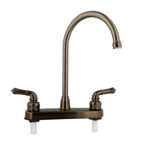 RV Kitchen Faucet Replacement – Gooseneck Spout and Handles, Bronze