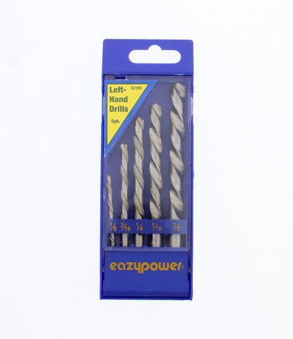 1/8 Inch-3/8 Inch Left Handed M2 Steel Drill Bit Set