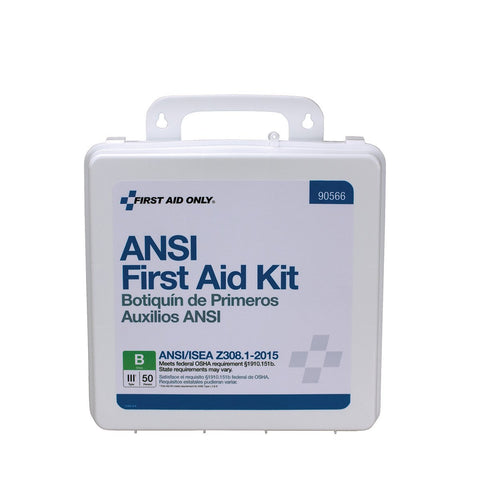 50 Person Bulk ANSI B, First Aid Kit- Plastic Weatherproof Case