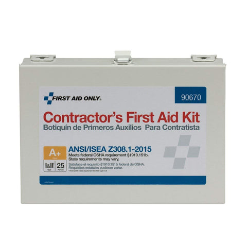 ANSI 2015 Compliant Class A+, Contractor First Aid Kit, Metal