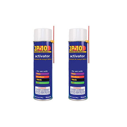2P-10 Professional Adhesive Activator for FastCap 2P-10 Glue, 2-Pack
