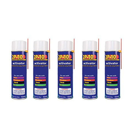 2P-10 Professional Adhesive Activator for FastCap 2P-10 Glue, 5-Pack
