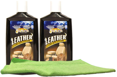 Leather Cleaner (8 oz.) Bundle with Microfiber Cloth (3 Items)