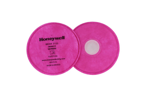 North Honyewell 75FFP100 Pancake Respirator Filter 2 Pack