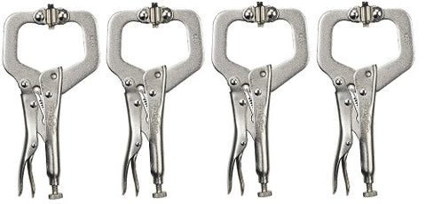 Locking C-Clamp Pliers with Swivel Pads