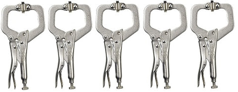 Locking C-Clamp with Swivel Pads Pliers