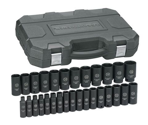 "1/2"" Drive Deep Metric Impact Socket Set (29 Piece)"