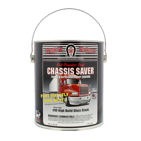 Rust Prevention Paint Chassis Saver, Gloss Black, 1 Gallon