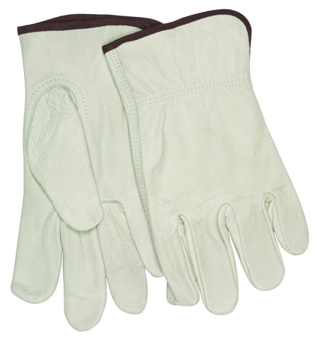 32113M Industry Grade Unlined Grain Cow Leather Driver Men's Gloves