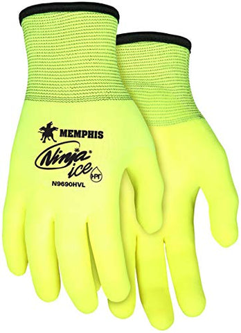 N9690HVXL Ninja Ice Hi-Viz HPT Palm Coated Glove
