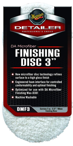 "3"" DA Microfiber Finishing Disc – DMF3, Pack of 2"