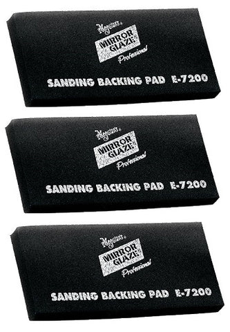 Meguiar's E7200 Mirror Glaze High-Tech Backing Pad (3 Pack) - Autobodynow.com
