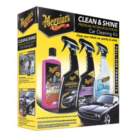 Clean and Shine Kit - Premium Interior/Exterior Car Cleaning Kit