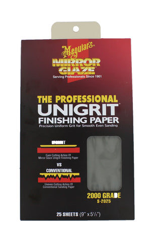 Mirror Glaze Unigrit Finishing Paper