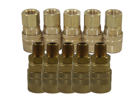 10 Pieces Milton Industries 715 and 716 M-Style Coupler Kit - Autobodynow.com