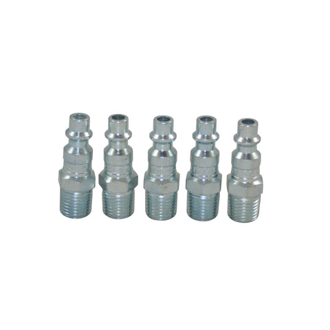 "Milton 727 NPT ""M"" Style 1/4 Male Air Line End Plug (MIL727) 5-Pack"