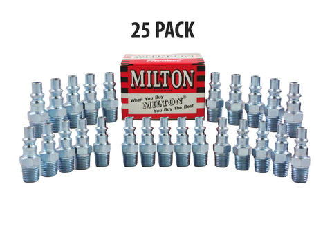 "25 Pieces Milton 777 A-Style Air Hose Fittings 1/4"" Male NPT Coupler Plugs - Autobodynow.com"