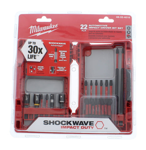 Shockwave Automotive Impact Duty Driver Bit Set