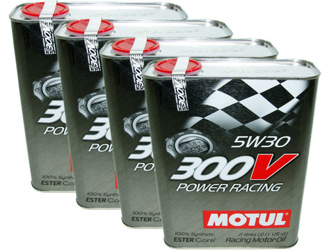 (8L=8.45 QT) 300V 5W30 POWER RACING 100% SYNTHETIC ENGINE OIL