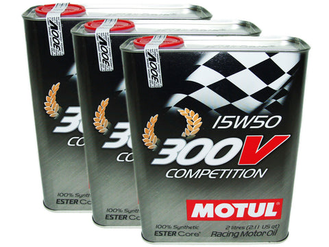 (6L=6.34 QT) 300V 15W50 COMPETITION RACING 100% SYNTHETIC ENGINE OIL