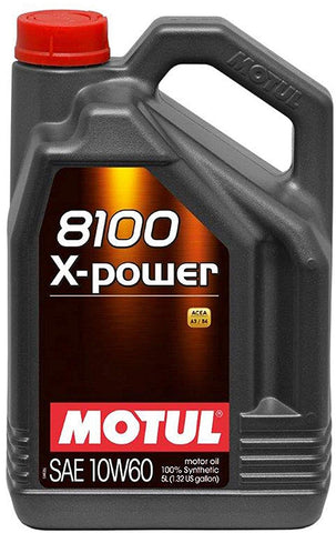 8100 X-Power 10W-60 Synthetic Oil 5 Liters (106144), 5. liters