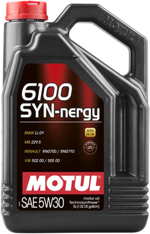 107972 6100 SYN-nergy 5W-30 Technosynthese Motor Oil, 5 Liter, 128. Fluid_Ounces
