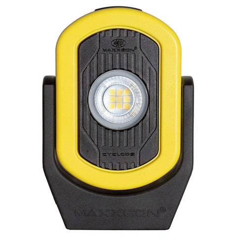 MXN00812, HiVis Yellow, Workstar Cyclops USB Rechargeable LED Worklight