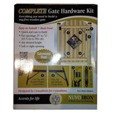 "COMPLETE GATE HARDWARE KIT HEAVY DUTY HGCBHK01 for 25"" to 72"" openings"