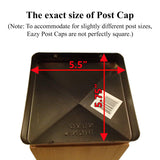 "Eazy Cap 5.5"" x 5.5"" (for Posts with Rounded Corners) - Black"
