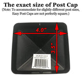 "US Eazy Cap for 3.5"" x 3.5"" Posts (Pressure Fit) - Black - US-PCP11BLK"