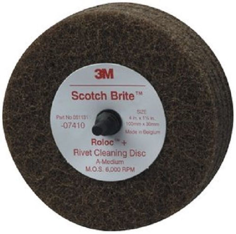 4 Inch Medium Grit Rivet Cleaning Disc