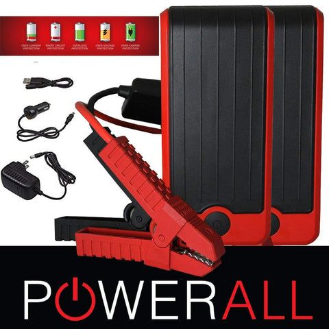 600 Amp 16,000 mAh Portable Jump Starter,Power Bank, Flashlight(2 PACK)