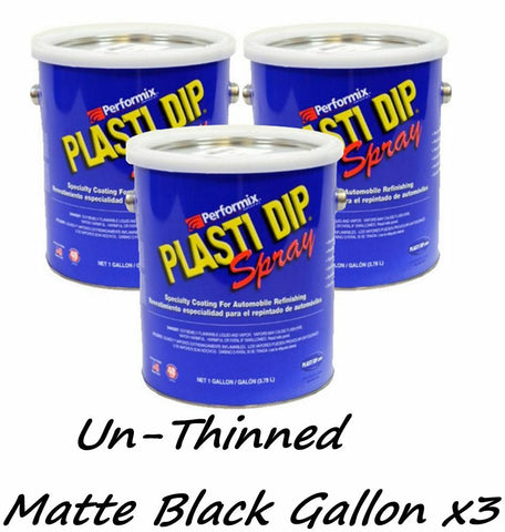 3 Gallons Matte Black UNTHINNED Concentrate FULL STRENGTH