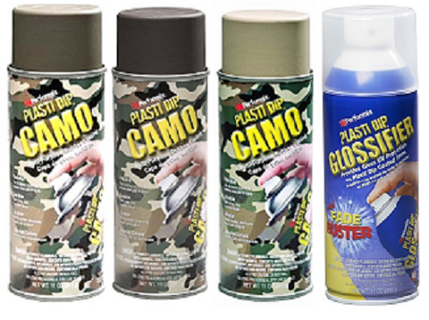 Plasti Dip Camo Multi Purpose Rubber Coating with Glossifier